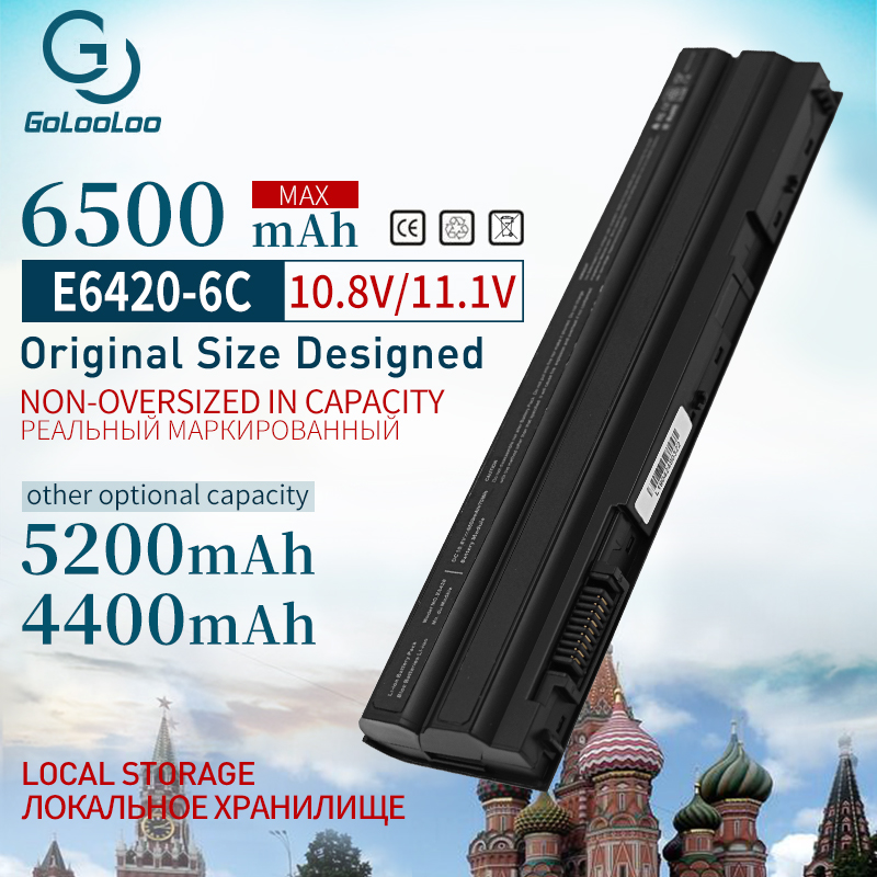 Golooloo 11.1V Laptop Battery for Dell Latitude E6520 E5430 E5520m E5530 E6120 E6430 E6420 E6530 <font><b>E5420</b></font> 3460 3560 T54FJ image