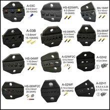 HS/SN série mandíbulas do alicate crimpador 190/230mm HS-03B/03C HS-04WF A-02WF SN-16WF/06WF A-02H1 A-02WF2C HS-625WFL HS-06WF2C SN-2