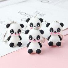 2019 Fashion Cute Panda Baby Keychain Girl'S Backpack Decorative Pendant Women Car Key Chain children Holiday Gift key Ring