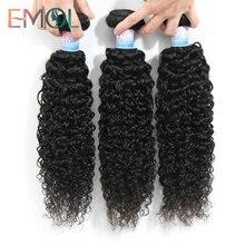 Emol, перуанские кудрявые волосы, пряди, перуанские волосы, плетение, пучок 8-28 дюймов, человеческие волосы, пучок, не Реми, для наращивания