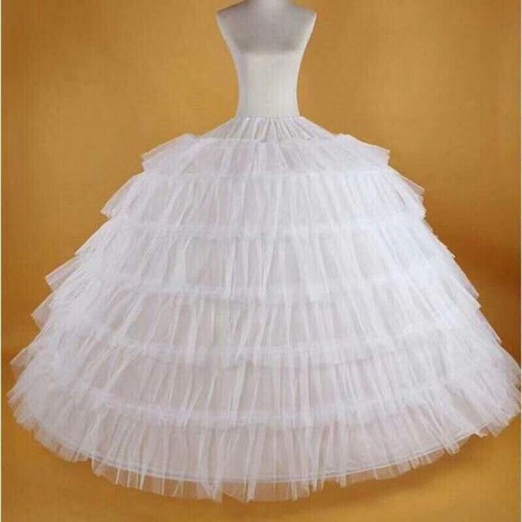 Slip Dress Lengthened Ultra-Peng Extra Large Bride Wedding Dress Performance 6 Steel 6 Regularity Of Coil Adjustable Six Bone Cr