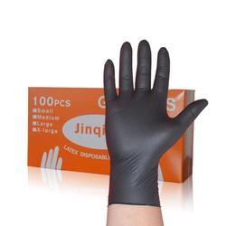 100 adet kutulu tek kullanımlık eldivenler kauçuk lateks gıda ev temizlik eldiveni anti-statik eldiven