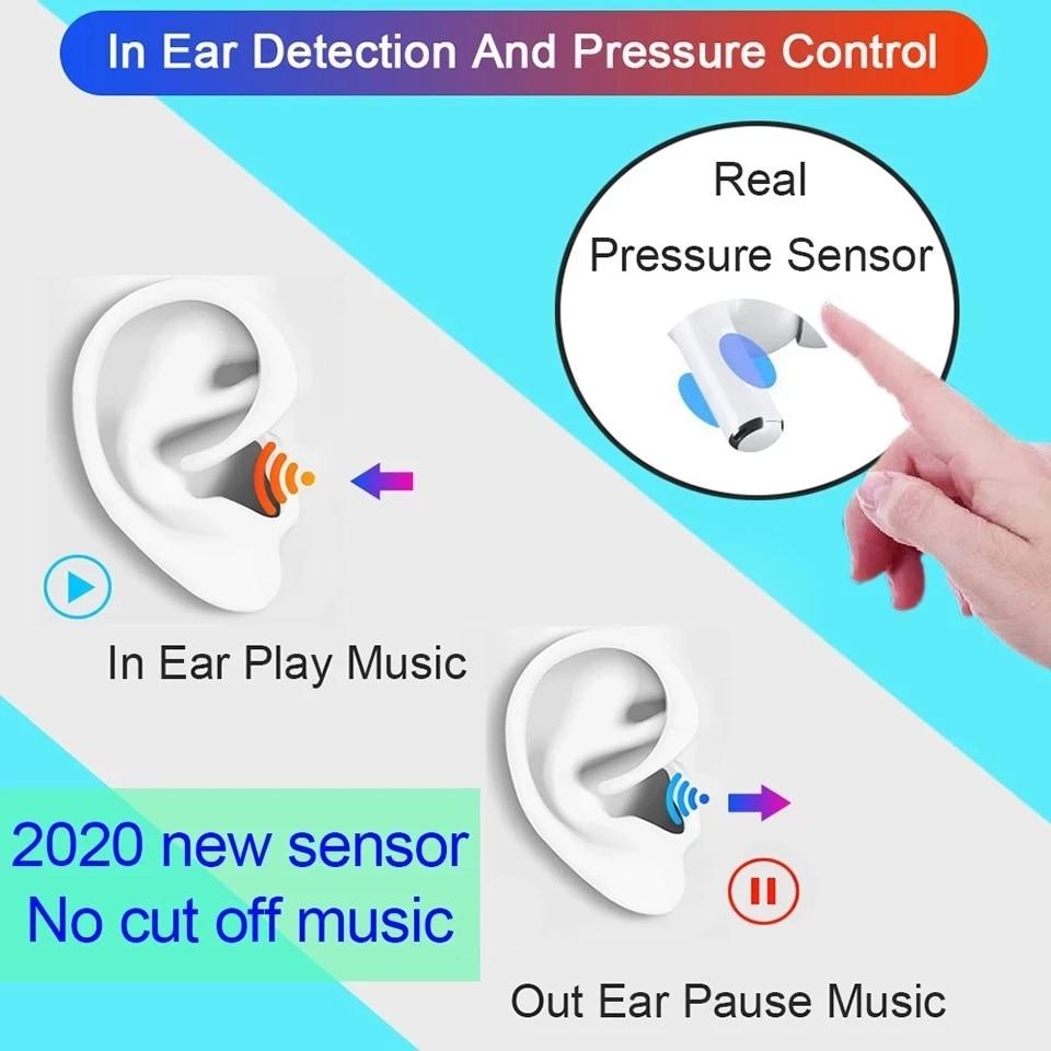 Air21 pro TWS Wireless Bluetooth 5.2 Earphone 45DB Hybrid ANC Earbuds Super Bass Quality 1562P PK H1 1562H i90000 MAX i99999 TWS