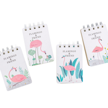 1pcs/lot Creative Portable Flamingo Series Small Coil Diary Notebook Papelaria School Offices Supplies 1pcs lot small green tree series small coil diary notebook stationery sketchbook school offices supplies