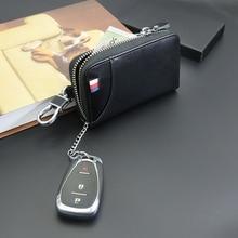 Für Audi A3 A4 B6 B8 B7 B5 B9 A6 C5 C6 C7 A5 Leder männer Auto Schlüssel Tasche multi Funktion Business Schlüssel Box Mit Auto Logo Auto Styling