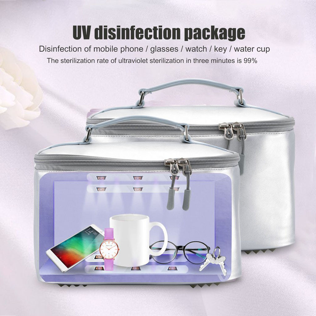 Portable Disinfection <font><b>Box</b></font> <font><b>Uv</b></font> Light Sanitizer <font><b>Box</b></font> Foldable Sterilizer Bag Led Disinfection Device Lady Travel And Handbags#g40 image