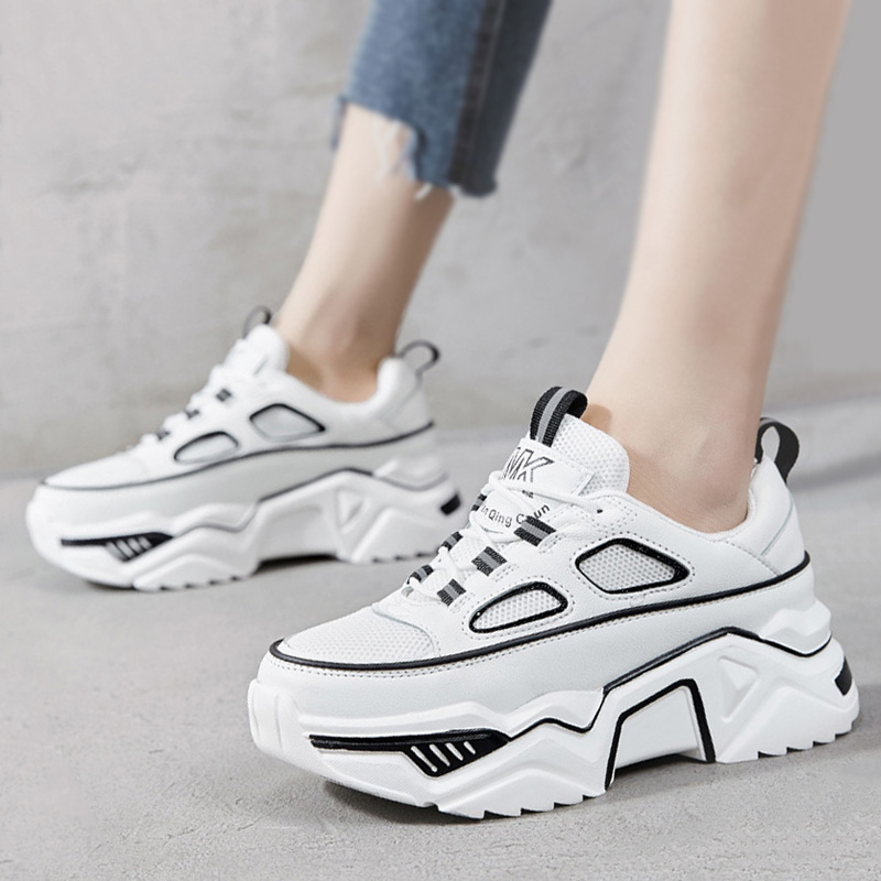 White Sneakers Women Shoes Reflective Comfortable Platform Shoes Women Sneakers Ladies Trainers Chaussure Femme Tenis Feminino