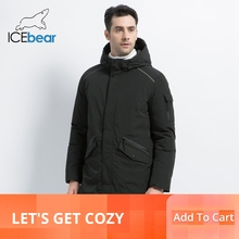 ICEbear 2019 new high quality winter coat simple casual design mens warm hooded brand fashion parkas jackets MWD18718D