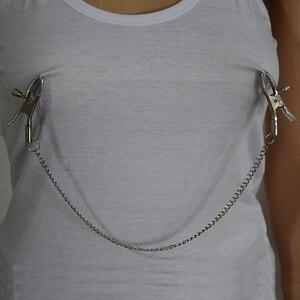 Image 2 - Pinzas de Metal con boquilla de 30cm para Bondage Bdsm, 1 par de pinzas para pezones, Juguetes sexuales, juego de pareja, Juguetes sexuales, pinzas para pezones