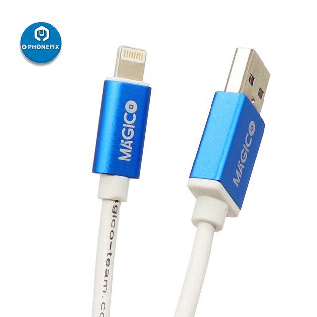 Magico przywróć łatwy kabel dla iphone'a iP * d automatycznie miga przywracając kabel trybu DFU Online sprawdź numer seryjny płyty głównej