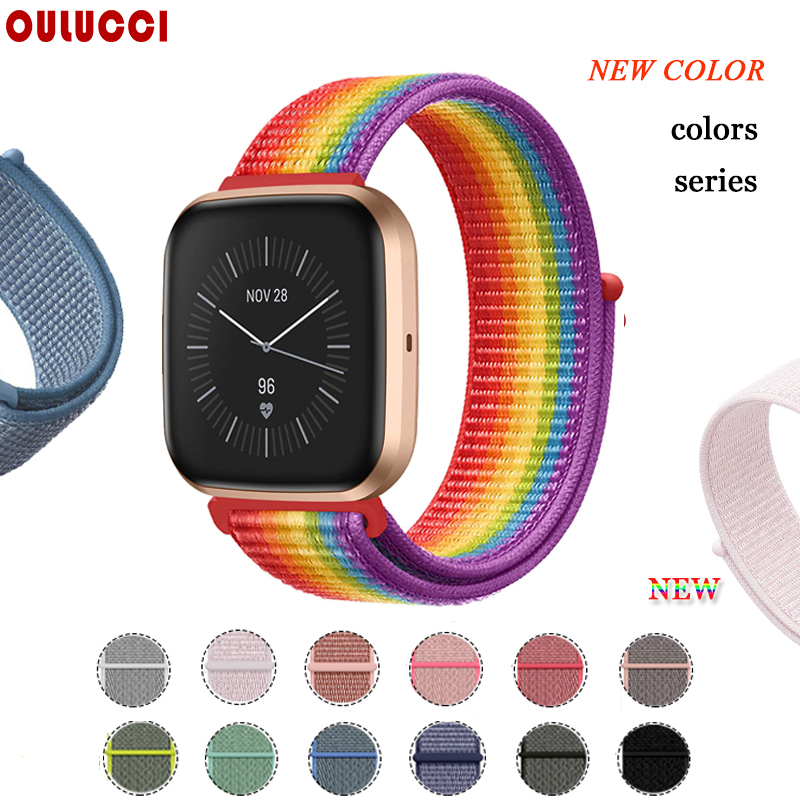 OULUCC Band For Fitbit Versa 2 Strap Breathable Replacement Strap Sport Loop For Fitbit Versa Lite Band Strap Accessories