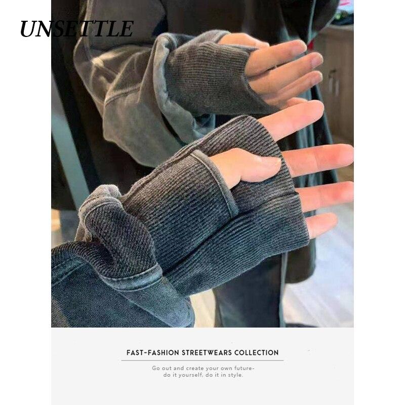 UNSETTLE 2020AW Autumn Harajuku Sweatshirt Oversized Streetwear Men/Women Hip Hop Pullover Ninja Tactics Sweatshirts Cotton Tops