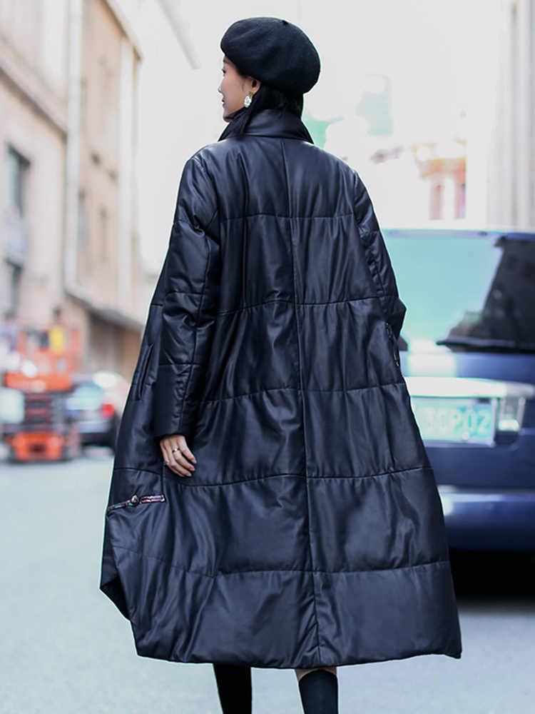 AYUNSUE 2019 куртка из натуральной кожи зимняя куртка женская 100% овчина Женская Корейская длинная пуховая куртка Chaqueta Mujer MY