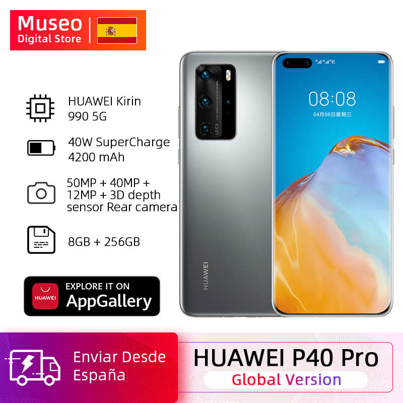 Global Version Huawei P40 Pro 8G 256G Kirin 990 5G Smartphone Camera Quadruple 50MP 6.58 ''screen SuperCharge 40W