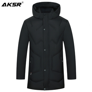 Image 1 - AKSR Mens Winter Jacket Coat Large Size Overcoat Parkas Thick Warm Hooded Winter Coat Men Windbreaker Casaco Masculino Inverno