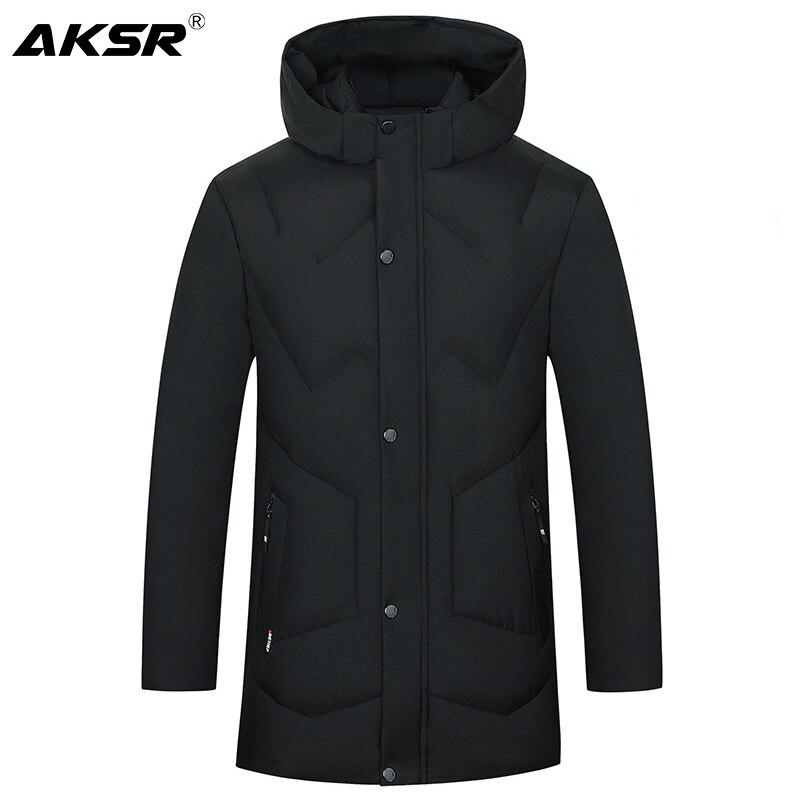 AKSR Men's Winter Jacket Coat Large Size Overcoat   Parkas   Thick Warm Hooded Winter Coat Men Windbreaker Casaco Masculino Inverno