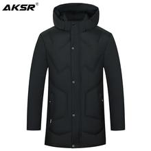 AKSR manteau dhiver à capuche pour homme, manteau coupe vent de grande taille, Parkas épais et chaud