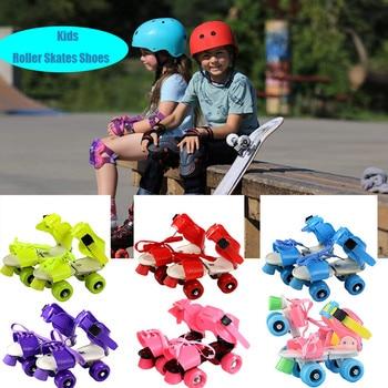 Patines de ruedas de tamaño ajustable para niños, zapatillas de patinaje de...