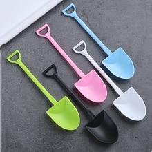 100pcs/set Portable Disposable Dessert Shop Pudding Spoon Party Shovel Tableware Spoons