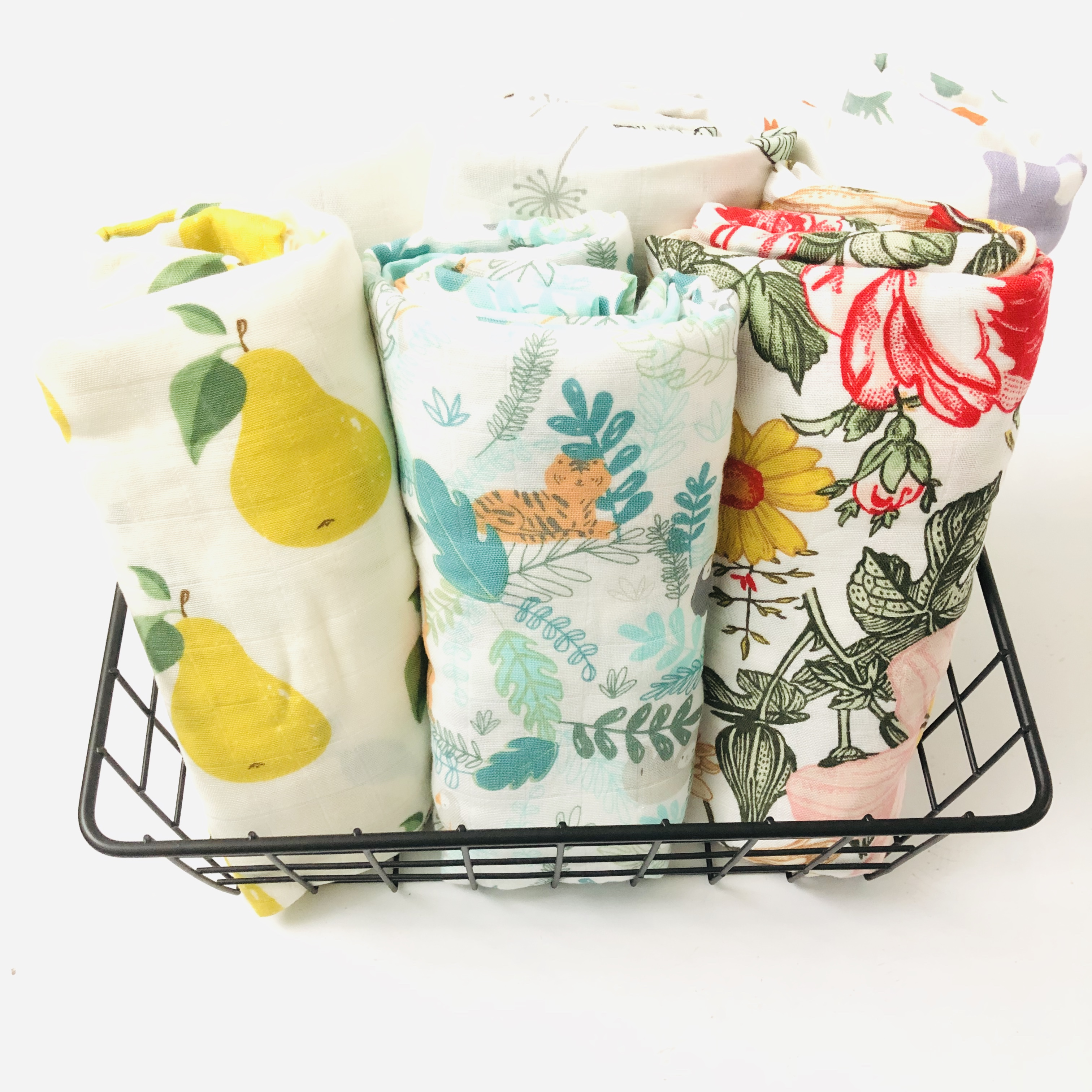 Lemon Baby Swaddle Baby Muslin Blankets Quality Better Than Aden Anais Baby Multi-use Cotton/bamboo Blanket Infant Wrap