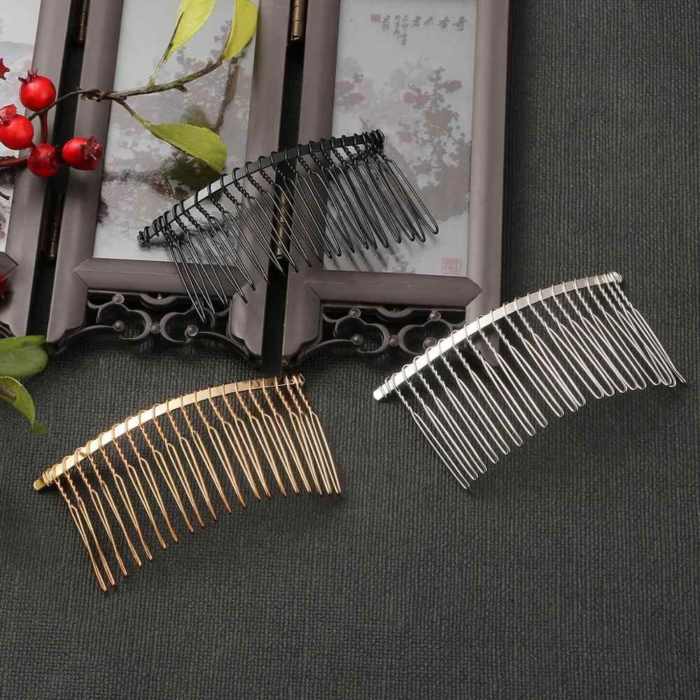 5 unids/lote peines de hierro para el pelo Clip en blanco Base para mujer hecho a mano DIY peine para el pelo Boda nupcial para la fabricación de joyas