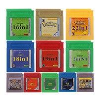 Cartão de console do cartucho do jogo de vídeo de 16 bits super tudo in1 versão em inglês para nintendo gbc
