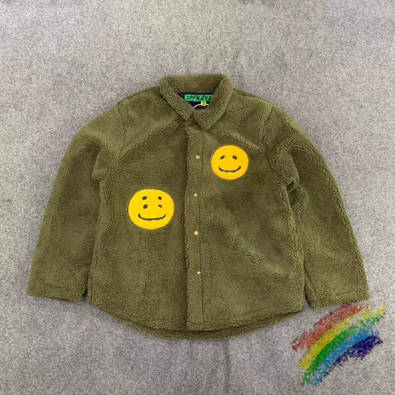 Hairy Thick Keep Warm Kanye CPFM.XYZ Jacket Men Women 1:1 High Quality Green Red Black Winter Fashion Casual CPFM.XYZ  Jacket