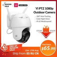 YI PTZ Wifi Outdoor Kamera 1080P Digital Zoom AI Menschliches Auto Tracking Wireless IP Kamera Farbe Nachtsicht Sicherheit CCTV Kamera