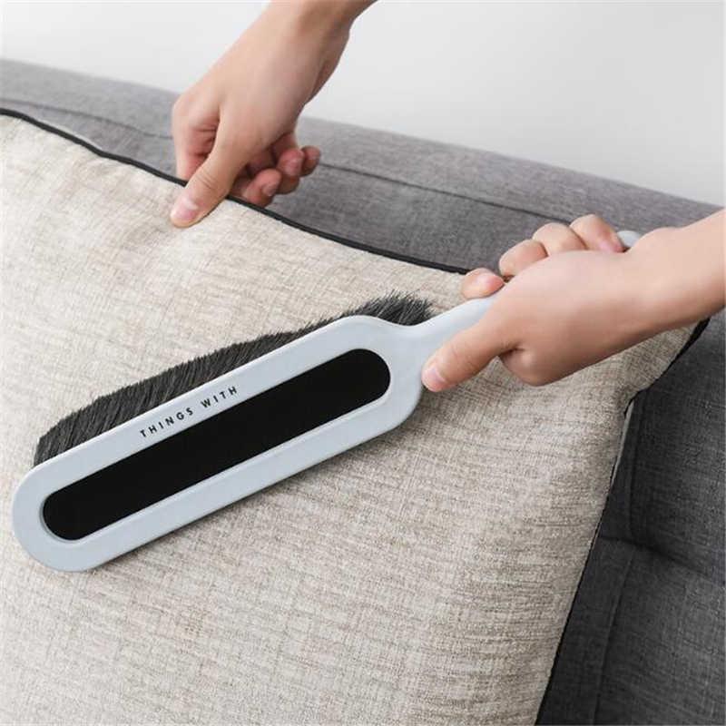 Baru Pegangan Panjang Bulu Tempat Tidur Cleaning Sikat Plastik Antistatik Sikat Karpet Sofa Pakaian Menyapu Sapu Rumah Alat Pembersih