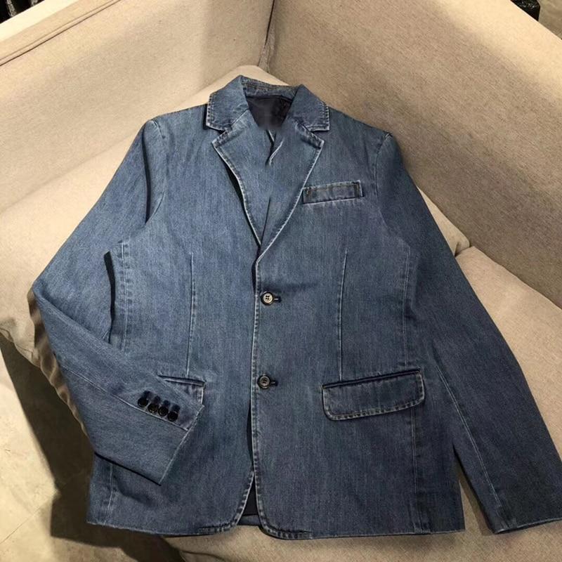 Solido Giubbotti jeans Cappotto Manica Lunga da Donna Vintage Giacca di Jeans Autunno Del Cappotto Del denim Jean