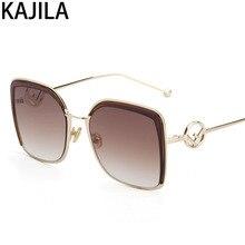 Retro Square Mirror Sunglasses Women Alloy Oversized Frame Black Pink Sun Glasses Ladies lentes de sol mujer UV400 22053