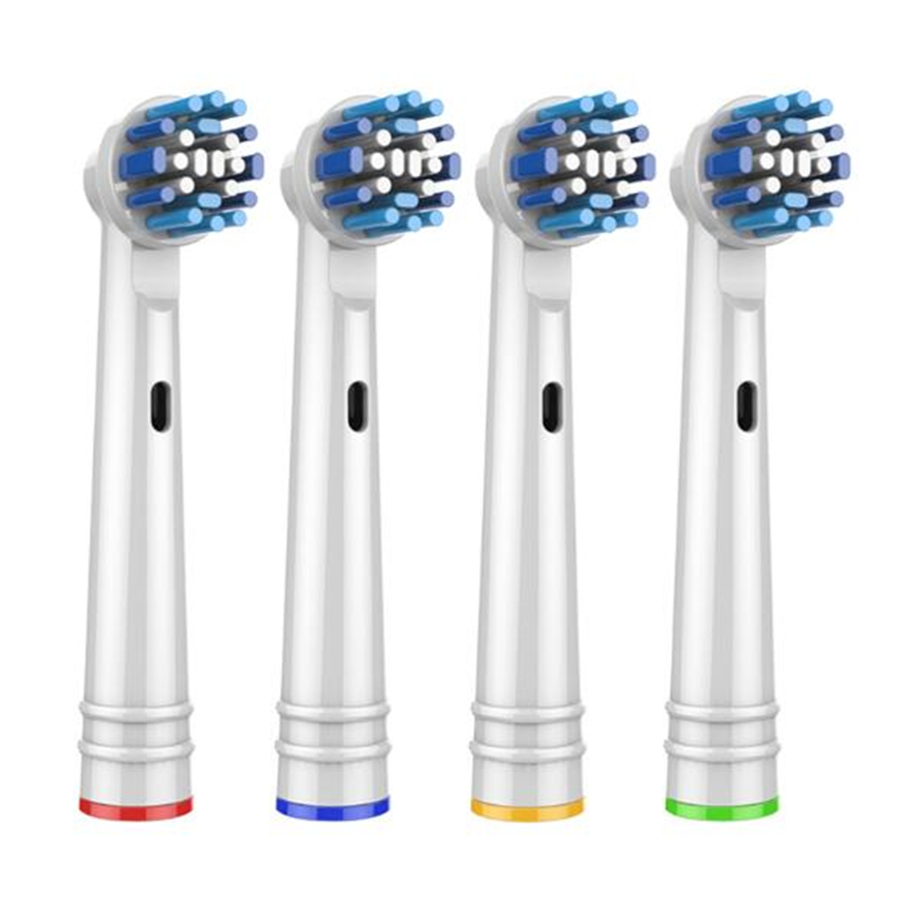 4pcs Replacement Toothbrush Heads For Oral B Electric Tooth Brush Advance/Pro Health/Triumph/3D Excel/Vitality Precision Clean image