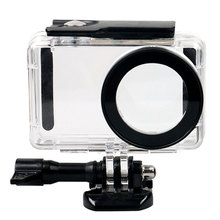 цена на New High Quality Shell Underwater Case Diving Waterproof Protective Case for Xiaomi Yi 4 K Xiaoyi 2 Sports Camera Accessories