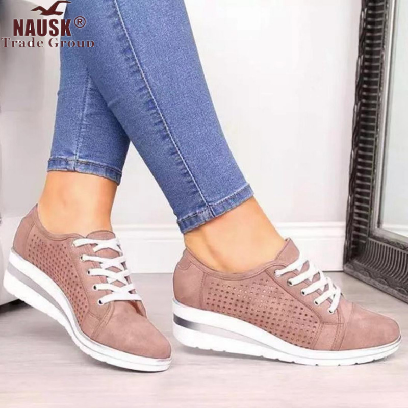 New Women Flats Summer Leather Shoes Low Heels Slip On Casual Soft Flat Shoe Bow-knot Hollow Breathable Ladies Loafers Sandals