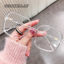 CRIXALIS-gafas de lectura para mujer, lentes para miopía 2021 cuadradas transparentes, gafas de protección contra luz azul, gafas de prescripción