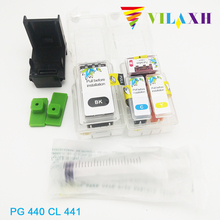Vilaxh For Canon pg-440 cl-441 smart ink cartridge for canon pg 440 cl 441 Pixma MG2240 MG2180 MG2140 MG3180 MG3540 printer