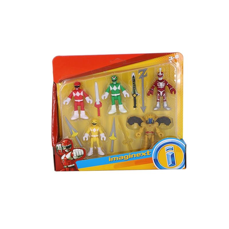Power 5-Pack Rangers Team Toys Action Figure Mighty Morphin Power Mecha Beast Super Rangers Christmas Gift Toys For Children
