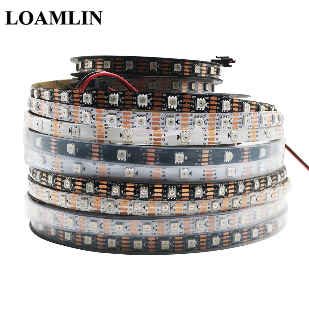 30/60/100/144 Leds/m WS2815(WS2813 Update) RGB Led Strip Individually Addressable Black/White PCB Dual-signal Led Light DC12V