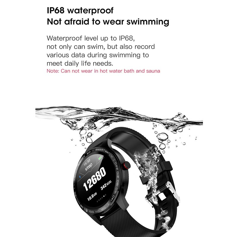Image 3 - Greentiger ECG PPG L9 Smart Watch IP68 Waterproof Multiple Sports Heart Rate Bluetooth Smartwatch Blood Pressure oxygen VS L5 L7-in Smart Watches from Consumer Electronics