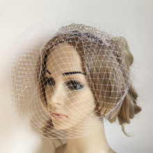 prettyia Vintage Birdcage Veil Mesh Fascinator Short Bridal Veils With Comb Bride Headband Wedding Party Hair Accessories