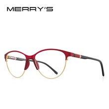 MERRYS-gafas de lectura tipo ojo de gato para mujer, diseño Retro, antiluz azul, lector de bloqueo, gafas de acetato, piernas, S2602FLH