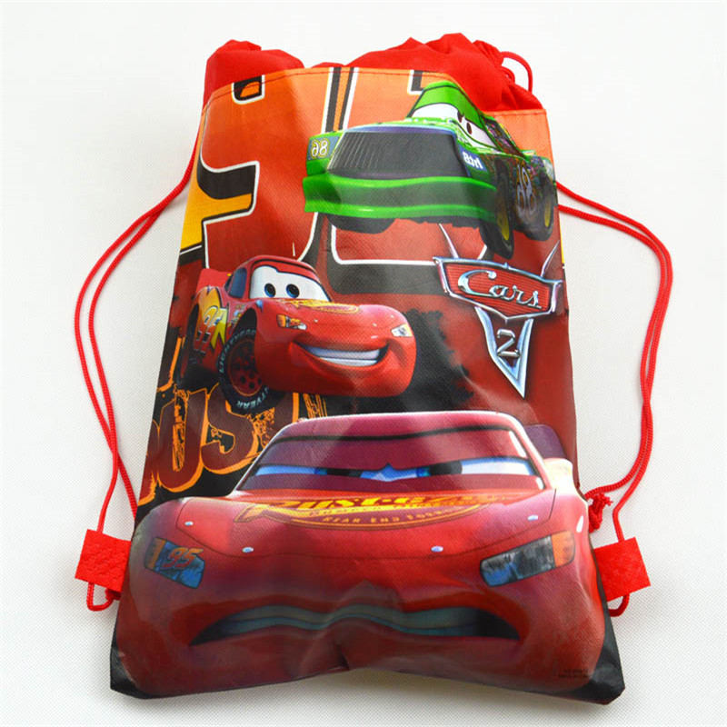 Disney Cars Party Favors Lightning McQueen Theme Bags For Kids Birthdays Non-Woven Fabric Party Decoration Backpack Bag 1pcs/lot
