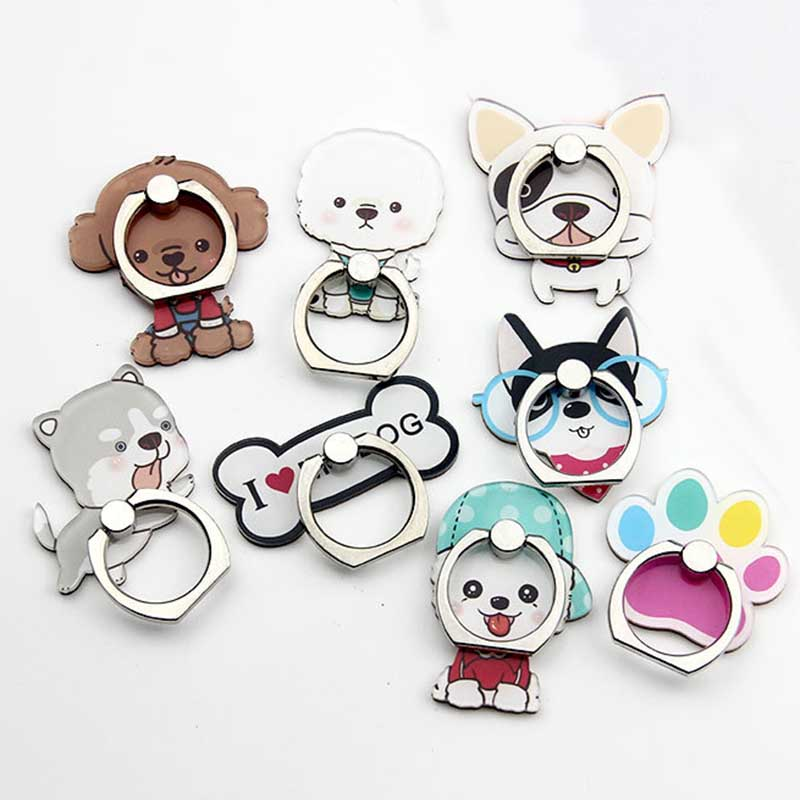 New Phone Ring Holder Mobile Phone Holder Stand Lovely Teddy Dog Animal Desk Finger Ring Holder Table Suporte Celular For IPhone