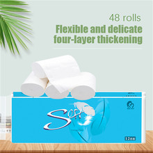 12 Rolls 4ply Rolling Paper of Toilet Paper Kitchen Towel White Tissue Paper Roll Strong Absorbent for Home Kitchen Accessories