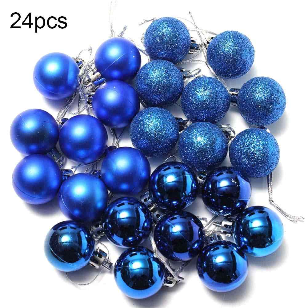 24Pcs 3cm Plastic Christmas Tree Balls Baubles Garden Home Party Hanging Ornaments Christmas Decorations For Home Navidad Natal