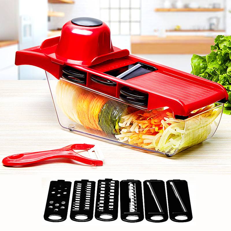 Vegetable Cutter with Steel Blade Mandoline Slicer Potato Peeler Carrot Grater Vegetable Slicer Kitchen Accessories Tool