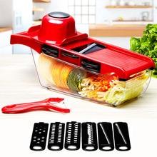 Vegetable Cutter with Steel Blade Mandoline Slicer Potato Peeler Carrot Grater Kitchen Accessories Tool