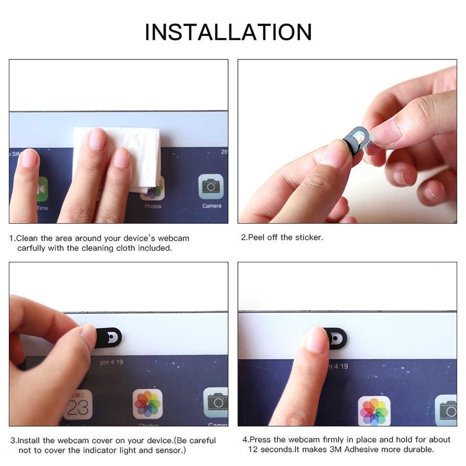 WebCam kapak panjur mıknatıs Slider plastik evrensel anti spy kamera kapağı dizüstü iPad PC Macbook gizlilik Sticker