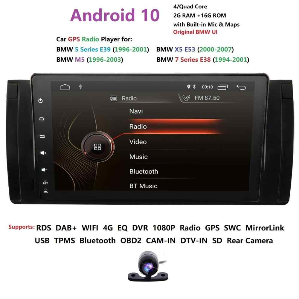 Android 10 Quad Core 9 Inch 1024x600 HD Touchscreen Car Radio with Car Navigation for BMW 5 Series BMW E39 BMW X5 E53 BMW M5 BMW 7 Series E38 SWC WiFi 4G USB SD CAM-in DAB+