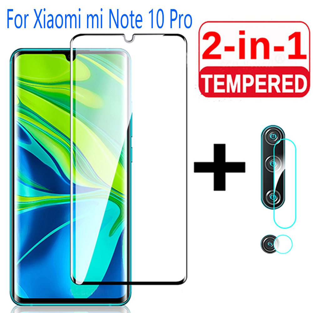 2-in-<font><b>1</b></font> Camera Lens Film For Xiaomi mi Note <font><b>10</b></font> Pro Tempered Glass Screen Protector Protective Glass on Xiaomi Note10 Pro Glass image